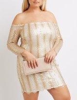 Charlotte Russe Plus Size Sequin Off-The-Shoulder Dress