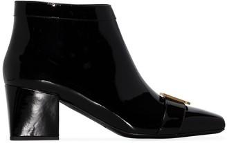 Balmain Rosy 55mm monogram ankle boots