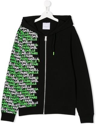 Gaelle Paris Kids TEEN logo-print hoodie