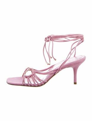Chanel Suede Sandals Pink