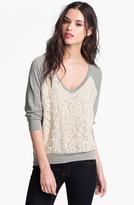 Ella Moss Lace Front Sweatshirt