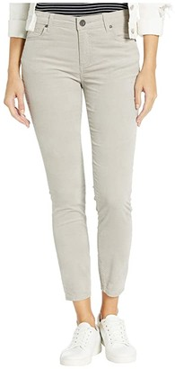KUT from the Kloth Donna Ankle Skinny in Velvet in Silver (Silver) Women's Jeans