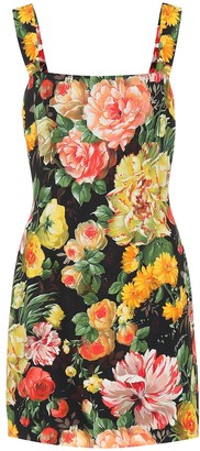 Dolce & Gabbana Floral-printed minidress