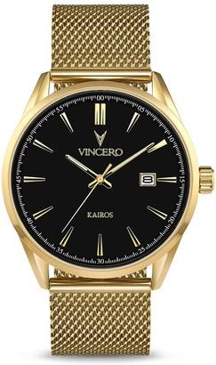 Vincero Watches The Kairos Mesh - Black/Gold