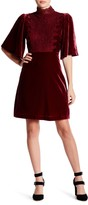 Romeo & Juliet Couture Velvet Cape Dress