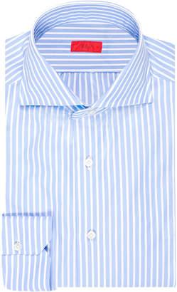 Isaia Men's Striped Cotton Dress Shirt