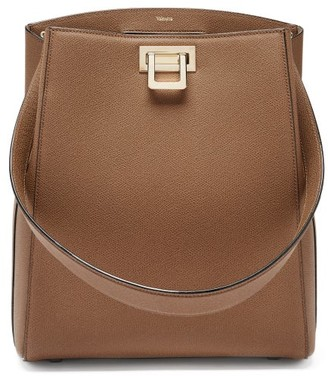 Valextra Brera Saffiano-leather Shoulder Bag - Light Brown