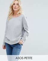 Asos Sweatshirt In Off Shoulder Boxy Fit