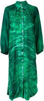 Raquel Allegra gradient shirt dress - women - Silk - 0
