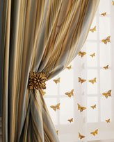 Home Silks Milano Striped Curtains & Butterfly Sheers