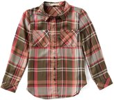 Copper Key Big Girls 7-16 Plaid Button-Down Tunic Top