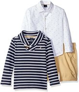 "Nautica Little Boys' Toddler ""Striped Shawl"" 3-Piece Outfit"