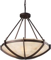 ELK Lighting Spanish Mosaic 6-Light Pendant in Age Bronze