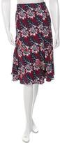 Thakoon Knee-Length Floral Print Skirt