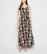 New Look Mela Floral Tie Waist Maxi Dress