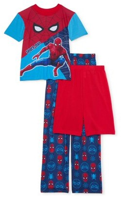Spiderman Boys Short Sleeve Top, Shorts & Pants, 3-Piece Pajama Set (Little Boys and Big Boys)