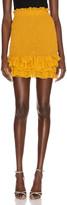 Redemption Pintuck Skirt in Mustard | FWRD