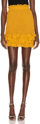 Redemption Pintuck Skirt in Mustard | FWRD