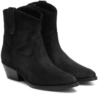 Saint Laurent West 45 suede ankle boots