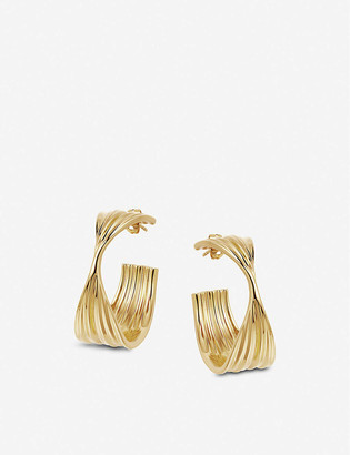 Missoma Wave large 18ct yellow gold-plated vermeil hoop earrings