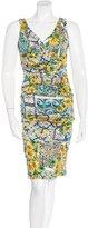 Dolce & Gabbana Sleeveless Majolic Print Dress