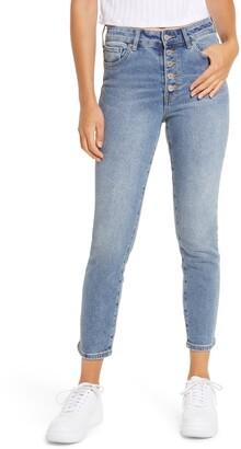 Prosperity Denim Wedgie Button Fly High Waist Skinny Jeans