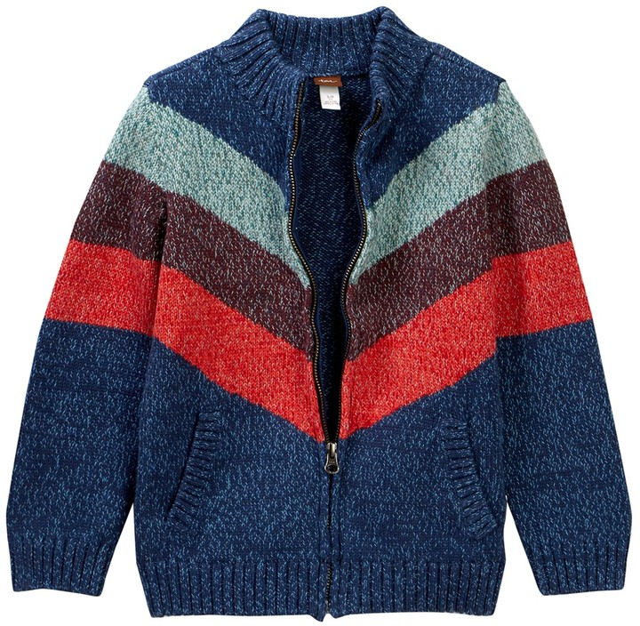 Tea Collection Tadao Zip Sweater (Little Boys & Big Boys)