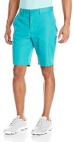 Louis Raphael Men's Golf Flat-Front Cotton-Blend Short