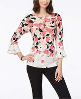 Charter Club Printed Tiered Top, Created for Macy's