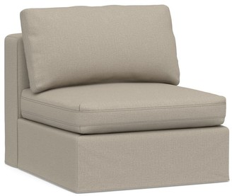 Pottery Barn PB Air Square Slipcovered Armless Chair