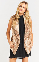 MUMU Fausta Fur Vest ~ Faux-ie Fawn Fur