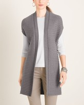 Chico's Chicos Shimmer Rib-Detail Sweater Vest