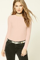 Forever 21 FOREVER 21+ Waffle Knit Crew Neck Top