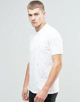 Asos Pineapple Ditsy Print Polo In White