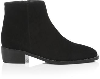Aquatalia Faelynn Studded Suede Ankle Boots