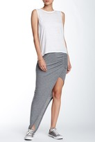 Pam & Gela Asymmetrical Ruched Maxi Skirt