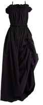 Sportmax Bandeau ruched cotton-poplin dress