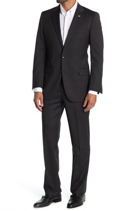 Brooks Brothers Grey Solid Two Button Notch Lapel Fitzgerald Fit Suit