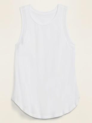 Old Navy Jersey Mesh-Trim Shirttail-Hem Tank Top for Women