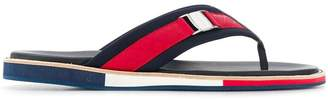 Baldinini canvas strap flip flops