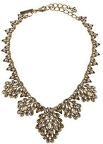 Oscar de la Renta Teardrop Framed Crystal Statement Necklace