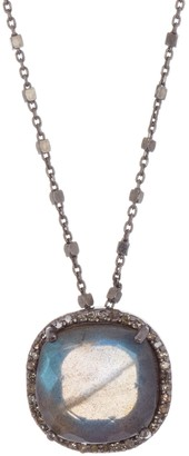 Adornia Fine Lara Labradorite & Champagne Diamond Beaded Chain Necklace