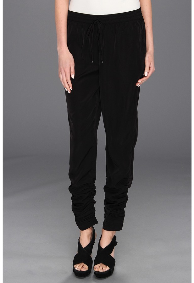 Kenneth Cole New York - Callie Animal-Printed Ruched Pant (Black) - Apparel