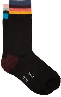 Paul Smith Artist-stripe Socks - Black