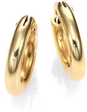 Roberto Coin 18K Yellow Gold Petite Oval Hoop Earrings