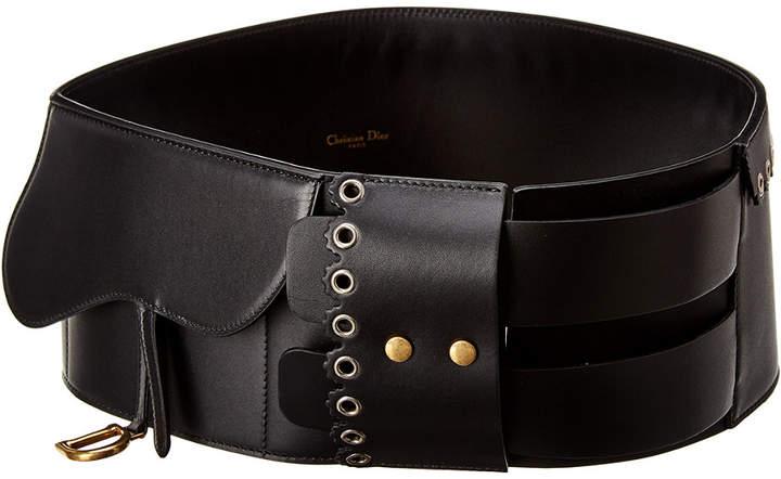 Christian Dior Saddle Leather Belt