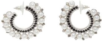 Erdem Silver Cluster Hoop Earrings