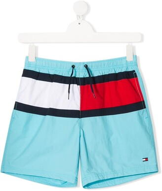 Tommy Hilfiger Junior TEEN colour-block swim shorts