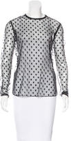 Thomas Wylde Silk Leather-Trimmed Top