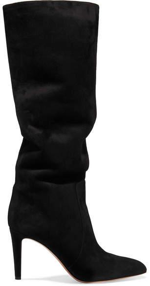 Gianvito Rossi 85 Suede Knee Boots - Black